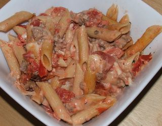Penne with tomato fondue